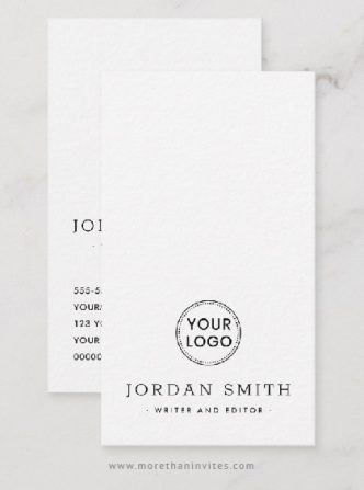 Modern, vertical custom logo business card template