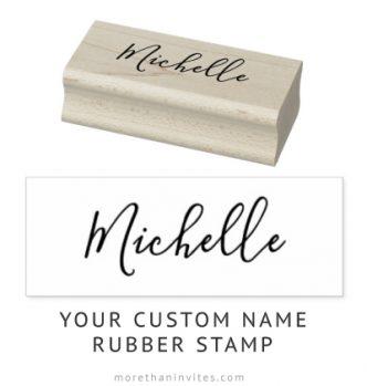 Customizable name elegant script rubber stamps